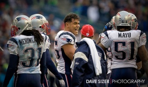 The late Junior Seau shown on the New England Patriots sideline during a game. (Photo by Dave Sizer/Via Flickr)