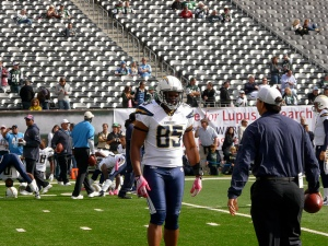 All Pro Tight End Antonio Gates came into the NFL not playing football, but playing basketball at Kent State. International players are coming in and doing similar things. (Photo via Flickr/Marianne O'Leary)